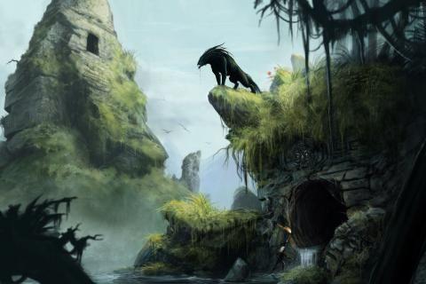 Artwork Fantasy Art Jungle Ruins Image 2787x1745 Fantasy Art Pinterest Jungles Art And