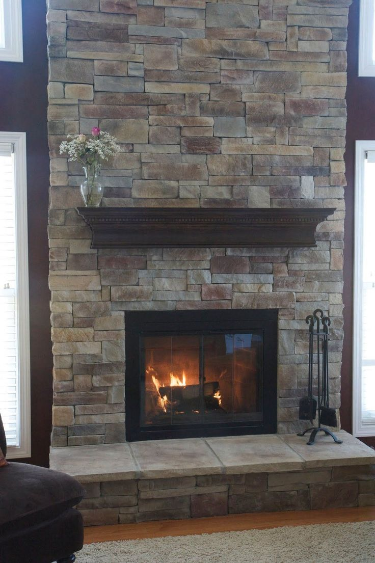 17 Best ideas about Stacked Stone Fireplaces on Pinterest  Stone fireplace makeover Fireplace