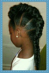 Natural hair single braid Mohawk style   Cute   Pinterest ...