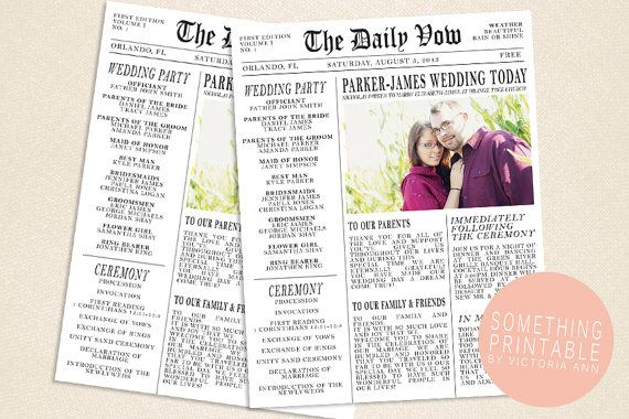 25 best ideas about Wedding newspaper on Pinterest  Gangster wedding Newspaper format and