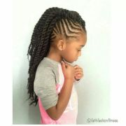 braids with twisted mohawk ponytail