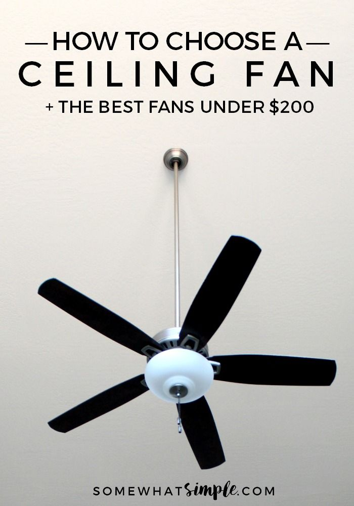 How to Choose a Ceiling Fan  The BEST fans under 200