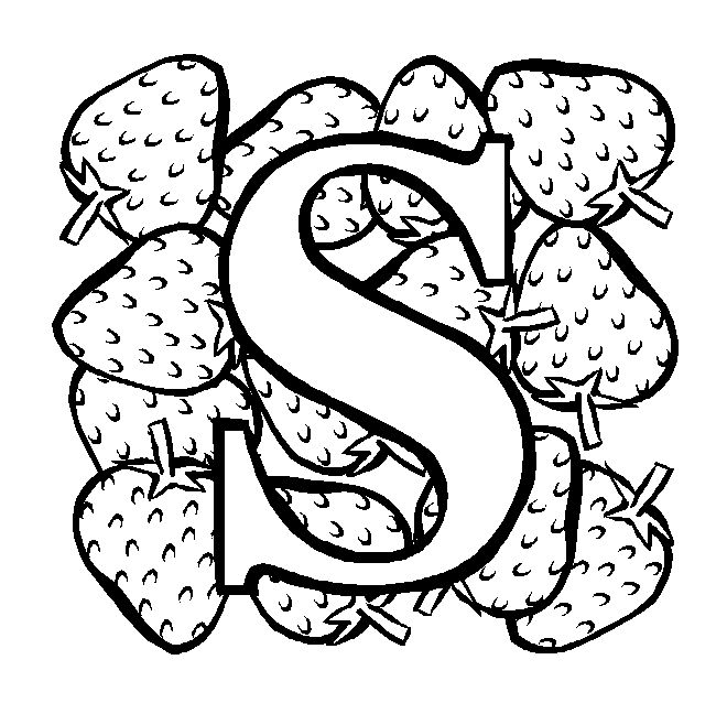 S Is For Strawberry. Always has been in my book! [coloring