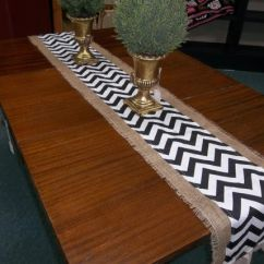 Diy Dining Chairs Makeover Larry Chair Kayak Navy Burlap Table Runner | Summer Special And Chevron Duck Pick Your ...