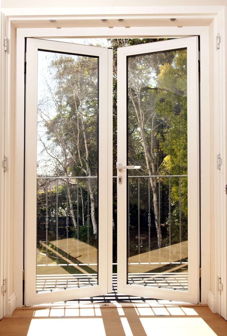 Quality aluminium door and window manufacturers in South Africa Side hung doors  White