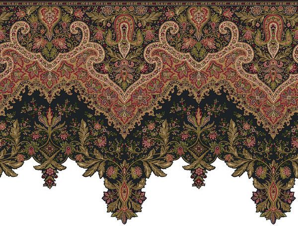 Ornate And Detailed Large Victorian Wallpaper Border Or