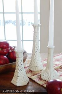 25+ best ideas about Painted candlesticks on Pinterest
