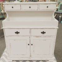 Vintage dry sink painted in Fluff by Dixie Belle ...