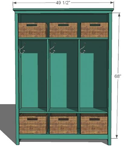 Learn how to build locker-style mudroom storage! FREE plans and ...