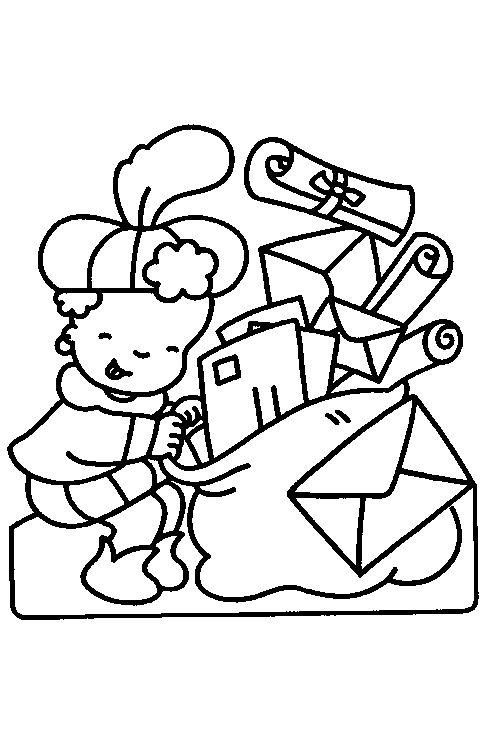 Kleurplaat Zwarte Piet Op Dak Google Zoeken