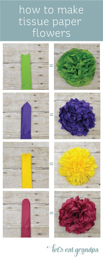 How to Make Paper Flowers Tutorial | Lets Eat Grandpa  In white, to be strung up in the trees for the Engagement Party.