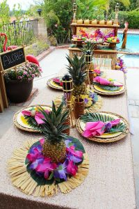 25+ best ideas about Luau table decorations on Pinterest ...