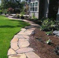 Flagstone Pathway for Flowerbed Edging | Garden ...