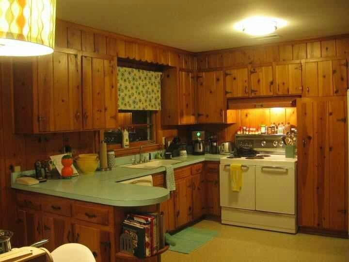 how much is a kitchen remodel back splash ideas for knotty pine from the late 1960's | 60's and 70's ...