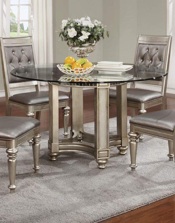 Bling Game Silver Dining Room Set  For the Home