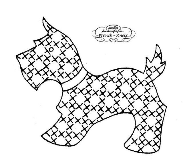 153 best images about Scottie dog quilts on Pinterest