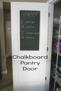 25+ best ideas about Chalkboard Pantry Doors on Pinterest
