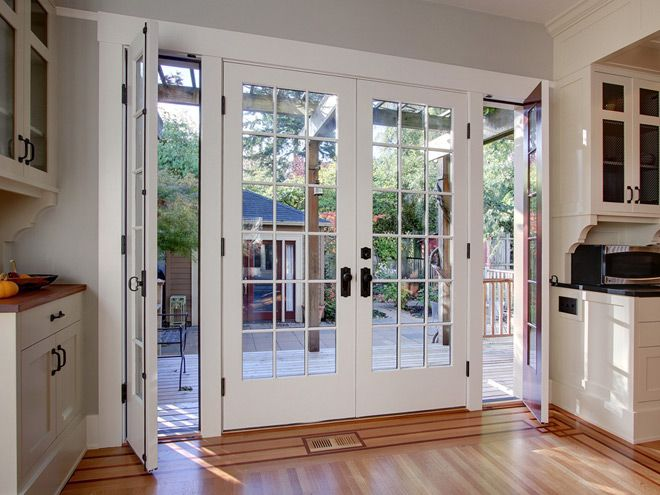French Doors At Back Queen Anne Basement Remodel