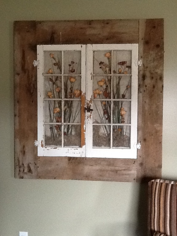 Old Windows In A Old Barn Wood Frame My Husband Helped Me