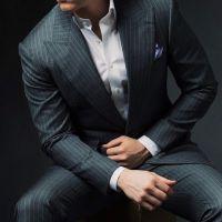 25+ best ideas about Grey Pinstripe Suit on Pinterest ...