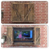 Our new custom outdoor TV cabinet! | Ideas for patio ...