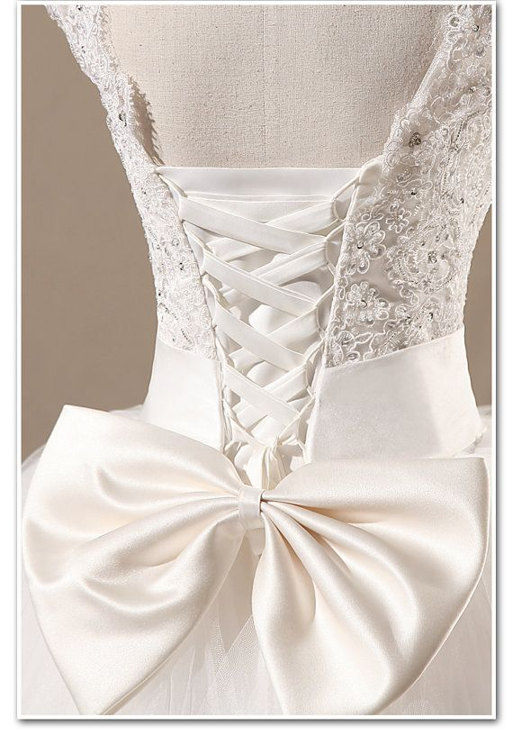 cheap wedding dresses Ball Gown Lace Bowknot by Charmbride on Etsy,