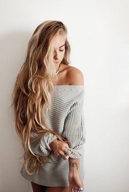 Off The Shoulder Grey Sweater Topshop A P P A R E L
