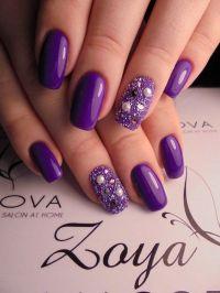 25+ best ideas about Purple nails on Pinterest