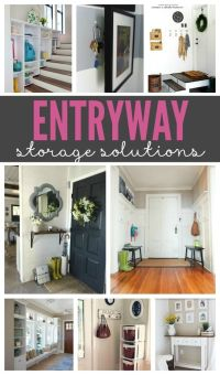 Entryway Storage Solutions | Entry ways, Entryway and Grey ...