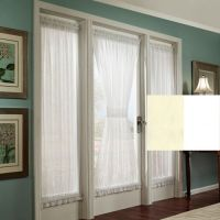 Stacey Privacy French Door Panel with Tieback | Office ...
