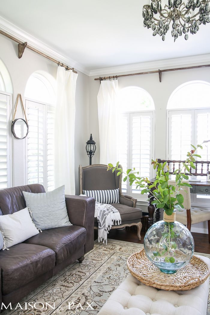 17 Best ideas about Farmhouse Curtain Rods on Pinterest