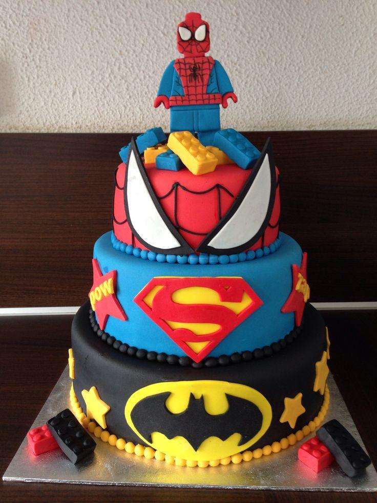 Lego Marvel cake  My sweet cakes  Pinterest  Lego marvel Cakes and Superhero cake
