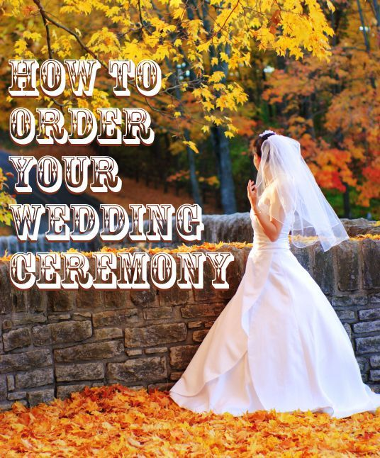 Basic Wedding Ceremony Outline