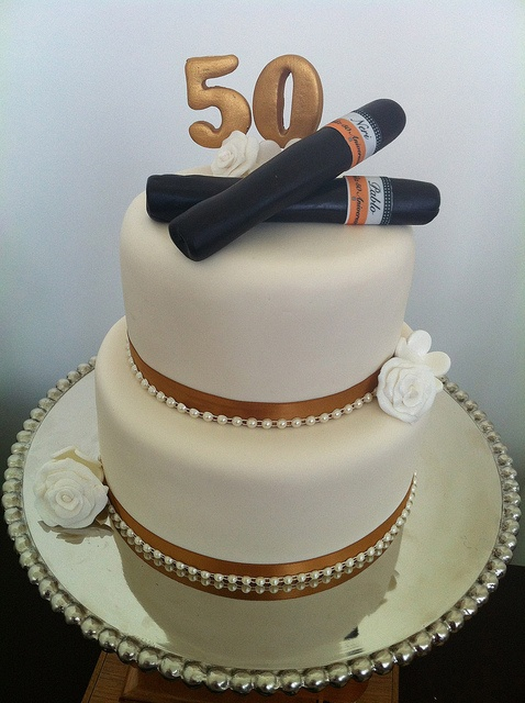 Cigar Anniversary Cake  Have your CAKE  eat it 2  Pinterest  Dads Anniversary cakes and