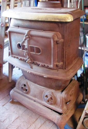 Riverside Stove Rock Island Make 34 Vintage Wood Burning