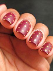 matte bordeaux nails