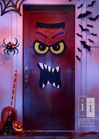 17 Best ideas about Halloween Door Decorations on