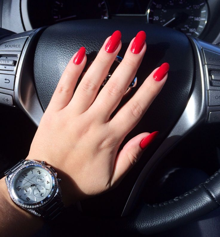 Rimmel London  Stiletto Red  Red Nails  Almond  Nails