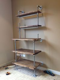 Galvanised pipe shelves | shelving | Pinterest ...