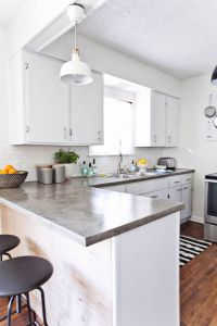The white, Polished concrete countertops and Tops on Pinterest