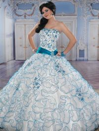 Blue Quinceaera Dresses! | White Floral Dress, Blue And ...