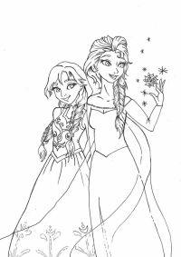 Ausmalbilder Anna Und Elsa Anna And Elsa The Snow Queen