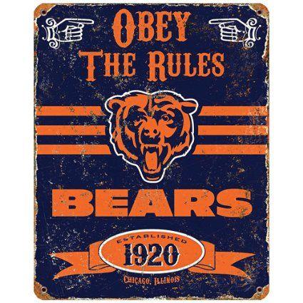 Walter Payton Quotes Wallpaper Amazon Com Nfl Football Chicago Bears Logo Vintage Metal