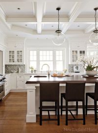 New England Home - hardwood floors, white cabinetry ...