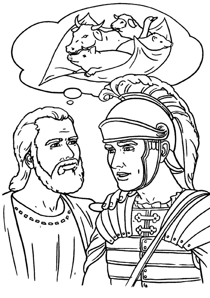 Peter And Cornelius Coloring Page Sketch Coloring Page