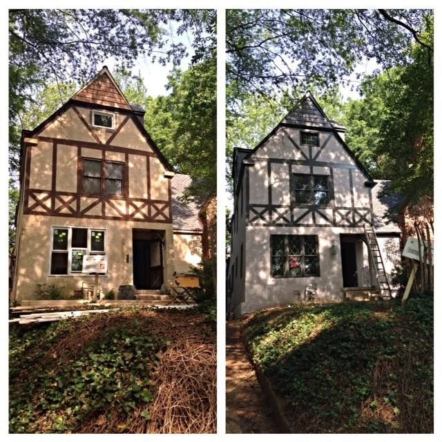 best color schemes for living rooms with light grey paint a new exterior scheme | tudor revival reno ...