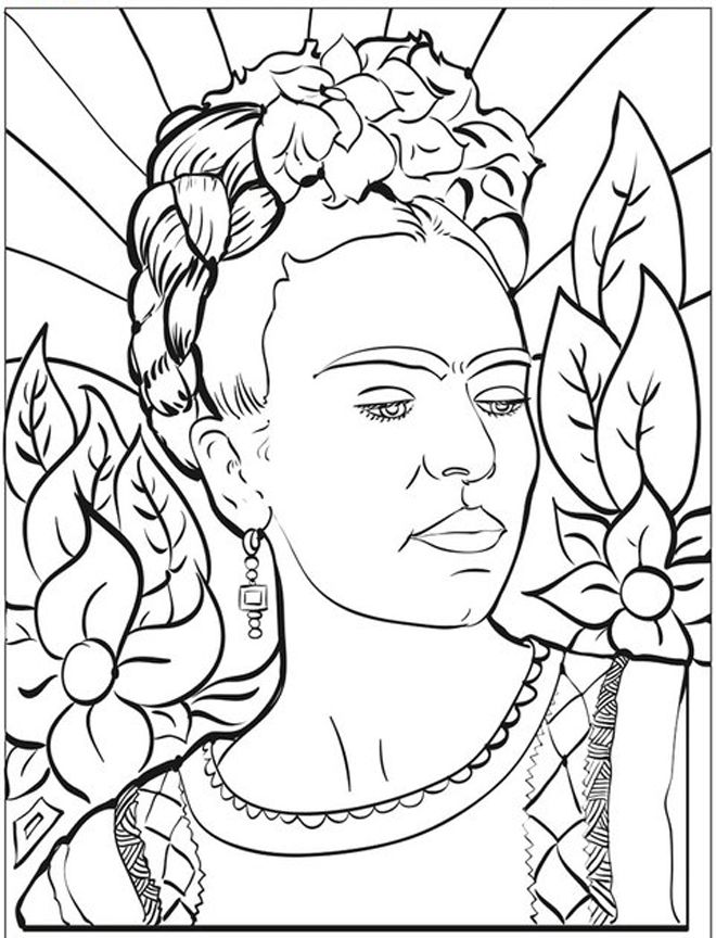 461 best images about Famous painting coloring pages on