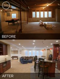 Steve & Elaine's Basement Before & After