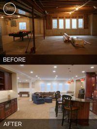Steve & Elaine's Basement Before & After