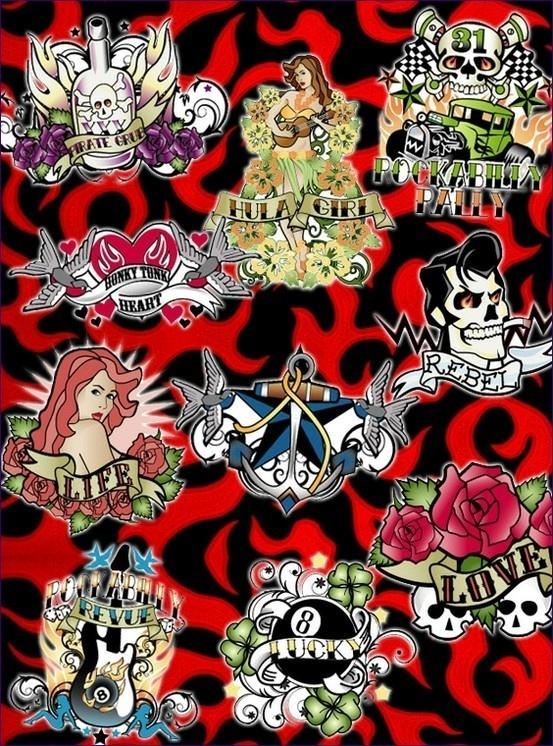Rockabilly Tattoo Designs Tattoos  Metal & Ink